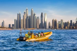 YELLOW BOAT SIGHTSEEING TOUR DUBAI - 99 minutes original tour