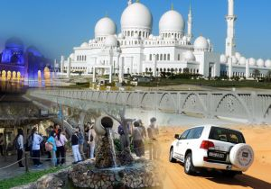 COMBO TOURS  - ABU DHABI CITY TOUR + EVENING DESERT SAFARI DUBAI