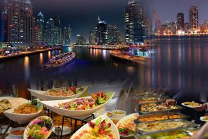 MARINA DHOW CRUISE WITH 5 STAR DINNER AND SERVICE